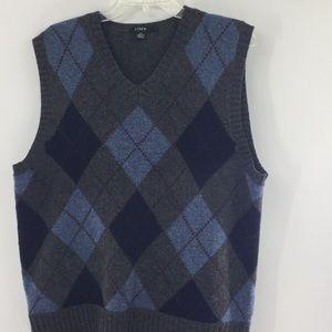 J. Crew sweater vest. 100% lamb's wool